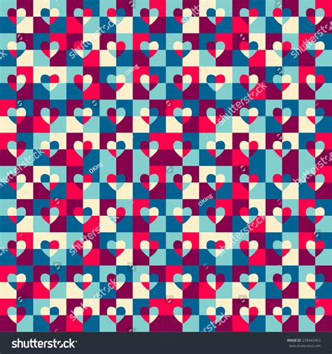 pattern wrapper seamless pattern hearts pop art gift stock vector