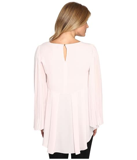 pleated sleeve chiffon blouse vince camuto chiffon pleated sleeve blouse hush pink
