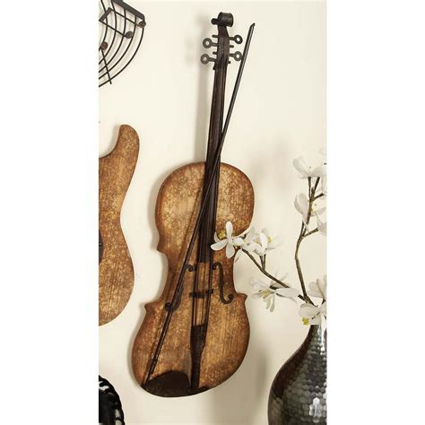 wall decor guitar 11 in x 36 in new traditional metal and wooden electric