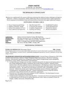 Consulting Resumes Exles by 8 Best Images About Best Consultant Resume Templates Sles On Technology