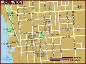 map of burlington