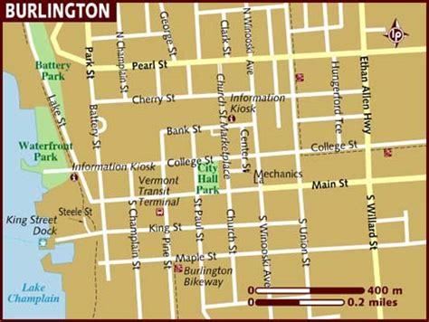 burlington vt map map of burlington