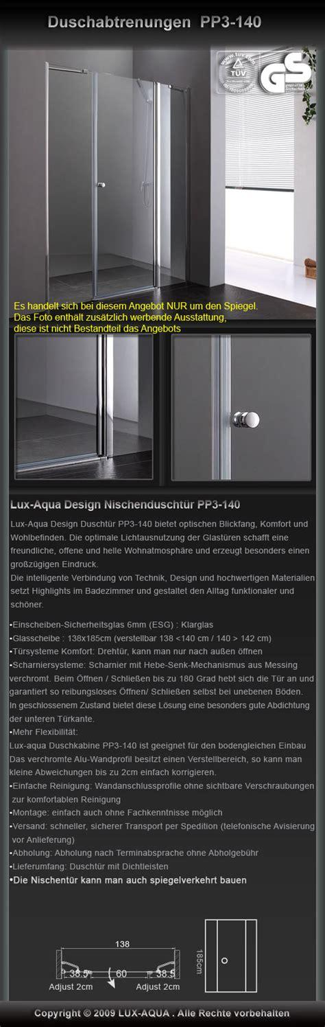 Wc Spiegel 114 by Www Aqua De Aqua Design Duschabtrenung Duscht 252 R