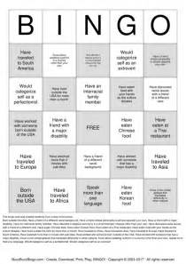 diversity bingo template search results for printable bingo cards template