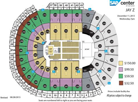 san jose sap map sap center z
