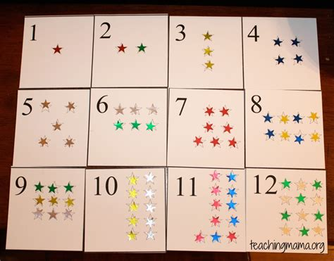 printable star numbers star number cards teaching mama