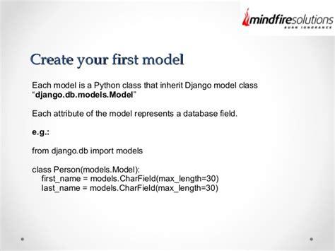django creating a model django models