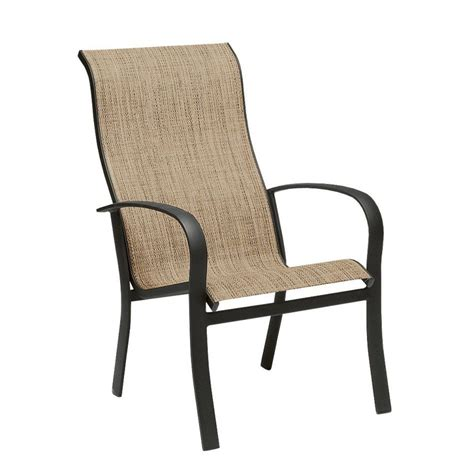Sling Patio Chairs Furniture Telescope Casual Aruba Ii Sling Aluminum Balcony Height Armless Sling Patio Chairs