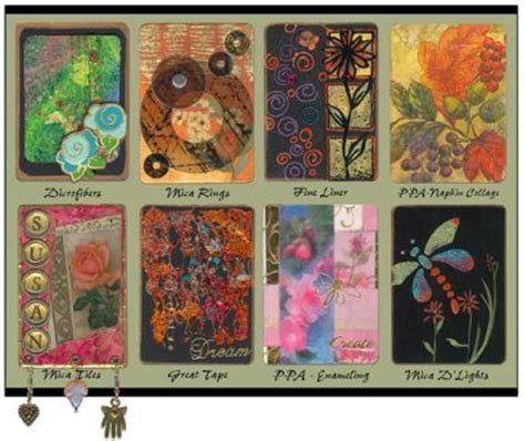 how to make artist trading cards artist trading cards from usartquest favecrafts