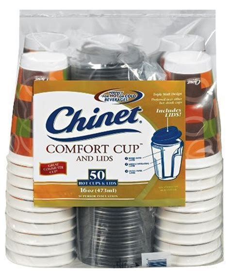 Chinet Comfort Cup by Chinet Comfort Cup 16 Ounce Cups 50 Count Cups And Lids