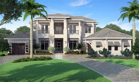 coastal florida mediterranean house plan 52922