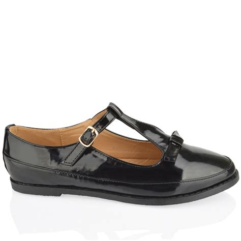 dolly shoes womens flats office bow black school buckle