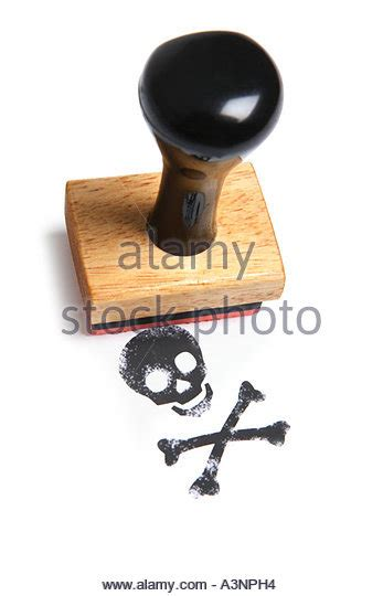 skull and crossbones rubber st warning st stock photos warning st stock images
