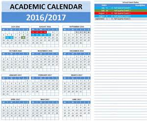 2016 And 2017 Academic Calendar 2016 2017 School Calendar Templates Microsoft And Open