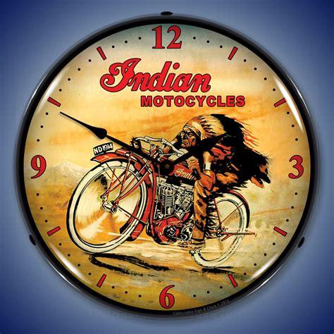 themes clock bollywood vintage motorcycle wall clocks lighted motorcycle clocks