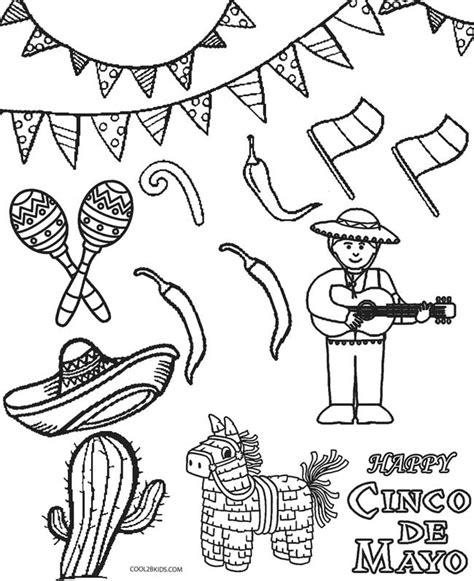 cinco de mayo coloring pages printable cinco de mayo coloring pages for cool2bkids