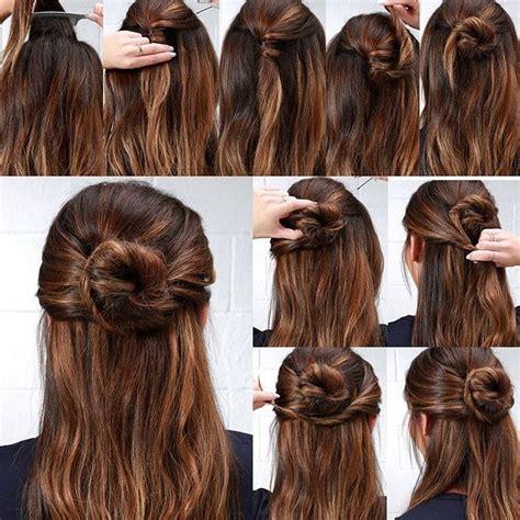 half up bun hairstyles tutorial 1167 best hairstyles images on pinterest