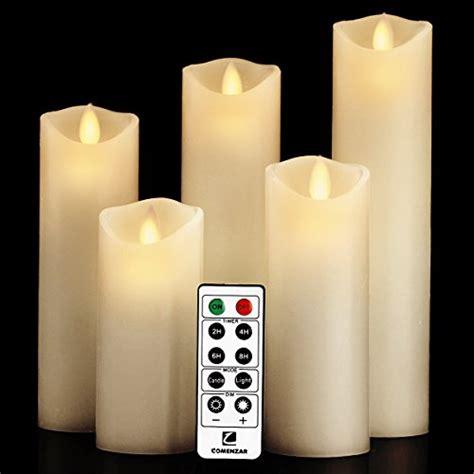 luminara candles luminara moving wick flameless candle set of 5 candle with 10 key remote vanilla ebay