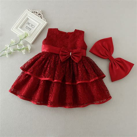 dress pattern for 1 year old 1 year old birthday baby girl dresses red bow party wear