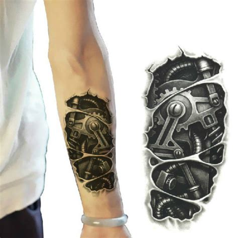 tattoo machine arm 3d machine pattern arm waterproof temporary transfer