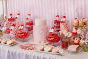 Sweet Buffet Table Little Big Company The Blog Red White And Pink Dessert