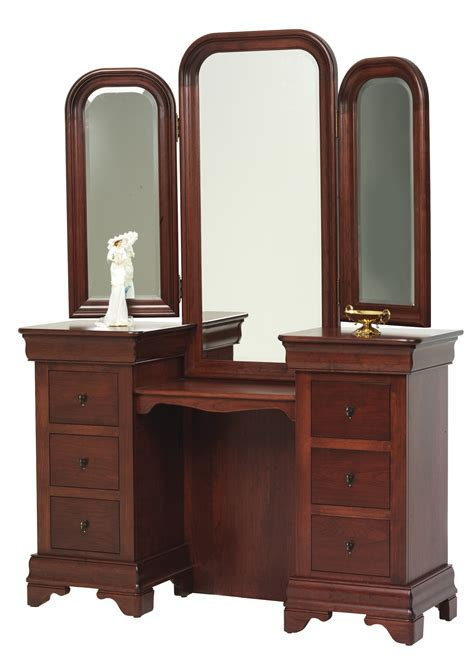 Dresser Vanity Bedroom by Bedroom Louis Phillipe Vanity With Mirror Frontier
