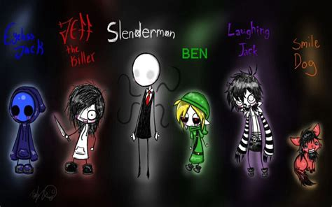 e jack jeff slendy ben l jack and smile dog