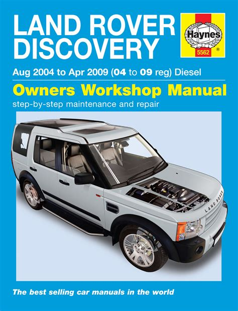 manual repair autos 2001 land rover discovery series ii parking system haynes 5562 land rover discovery diesel 04 09 haynes 5562 service and repair manuals haynes