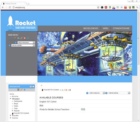 moodle theme rocket blast off with the new rocket theme by moodleman for