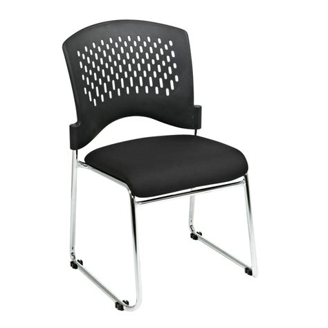 black padded stackable chairs stacking visitors chair with plastic back padded black