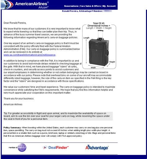 american airline baggage policy aa carry on baggage luggage rules enforcement master