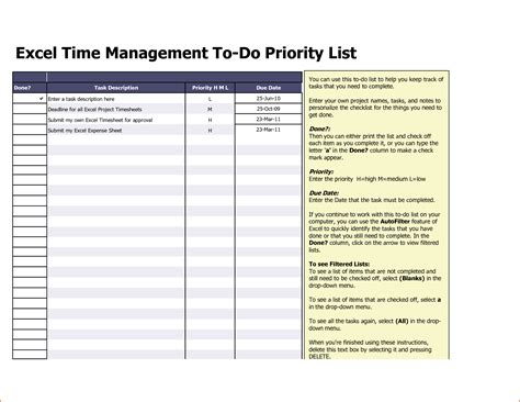 to do list excel template 8 excel to do list template bookletemplate org