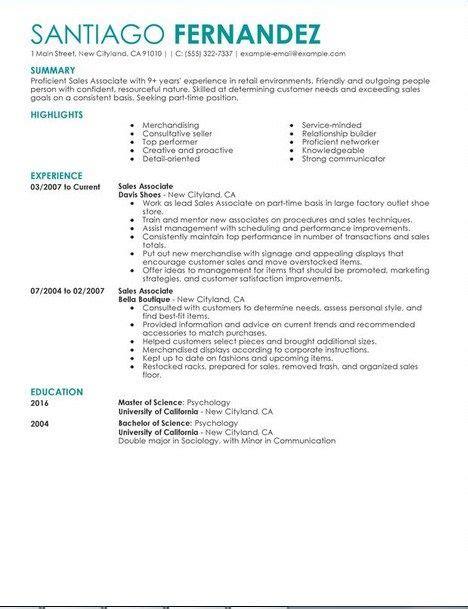 retail sales associate resume sle retail sales