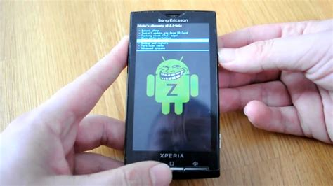 hard reset blackberry x10 sony ericsson xperia x10 with recovery menu youtube