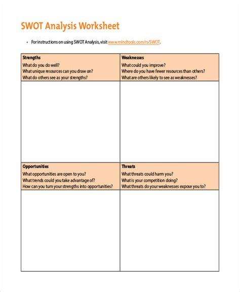 swot template pdf swot chart templates 7 free word pdf format