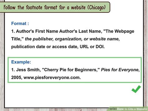 format footnote website how to cite a website with sle citations wikihow