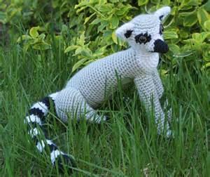 Crocheted ring tailed lemur by planetjune