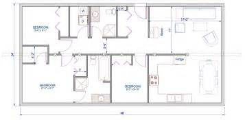 Single Floor Home Plans by 1152 Sqft 24 X48 Timber Trusses