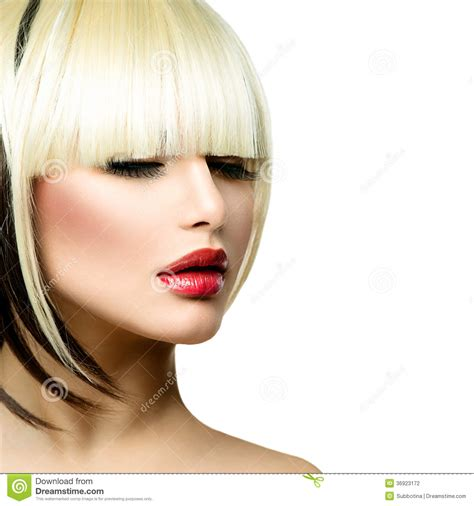 Hairstyle Photos Only Printer by Fashion Fringe Hairstyle Stock Photography Image