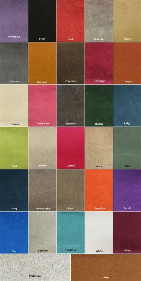 suede colors microfiber suede 8 oz upholstery fabric in 30 colors 60