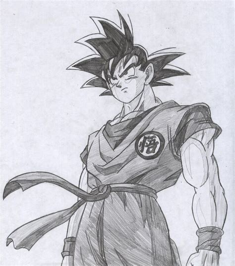 Drawing Goku by Goku Drawings Pencil Pic 23 Drawing And Coloring For