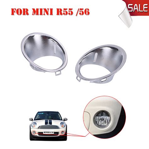 r56 fog light replacement front bumper chrome fog light surround trim ring for bmw