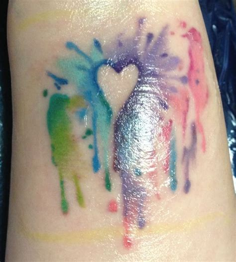 watercolor heart tattoo designs watercolor watercolor tattoos leg tattoos