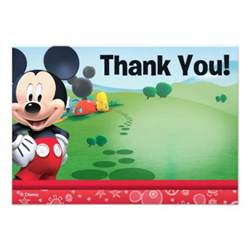 mickey thank you cards 3 5 quot x 5 quot invitation card zazzle