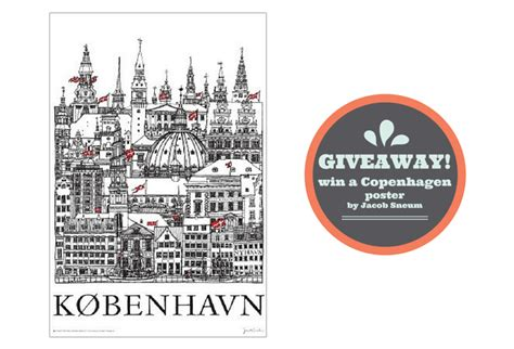 Copenhagen Giveaway - we re celebrating with a giveaway classic copenhagen poster