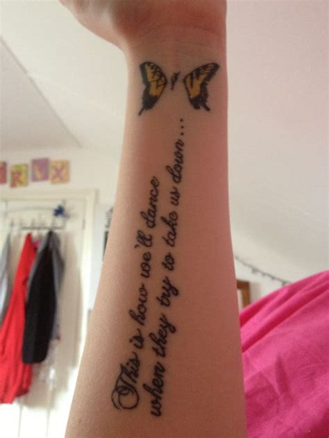 paramore tattoo on my left arm this is how we ll dance