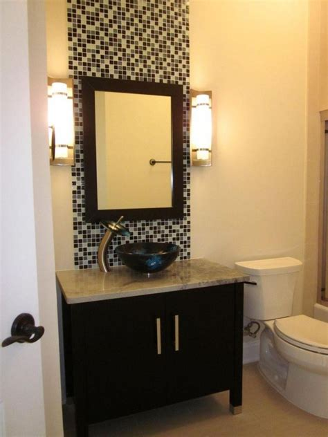 bathroom vanity mirror wall accent mosaic tiles ideas