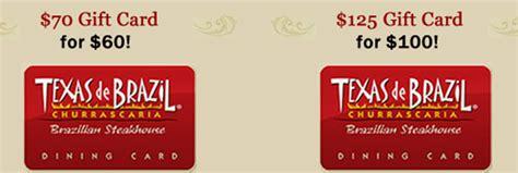 Texas De Brazil Gift Card Promotion - texas de brazil bonus gift card offer coupons 4 utah