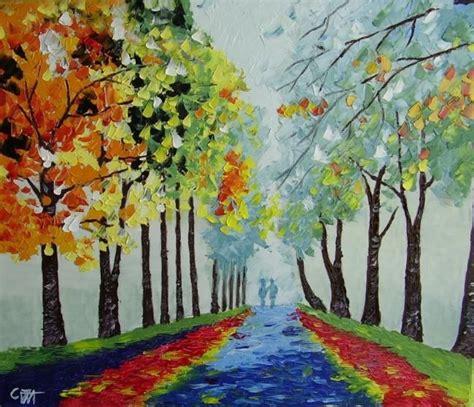la pintura del impresionismo 3836557096 bruma en el bosque pintura impresionista al oleo a espatula