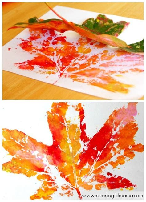 autumn crafts 17 best ideas about leaf prints on leaves
